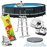 Intex Ultra Frame Swimming Pool 488x122 cm Schwimmbecken Stahlrahmen 26326 Komplett-Set mit...