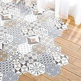 Ambiance Aufkleber Boden, Zementfliesen Azulejos mit Schutzlaminat aus Kunststoff | selbstklebende...