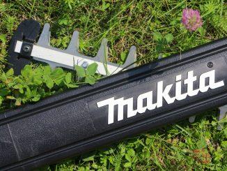 Makita Heckenschere auf dem Rasen