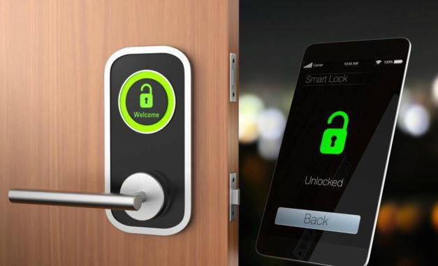 Smartphone Haustür Türschloss