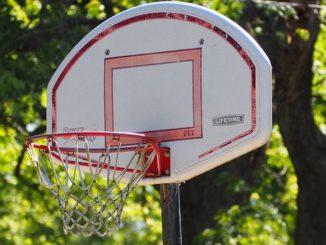 Basketballkorb für zuhause in der Nahaufnahme