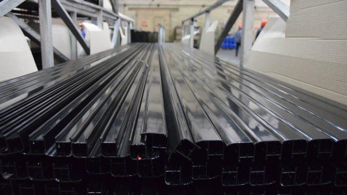 Gestapelte Aluminiumprofile